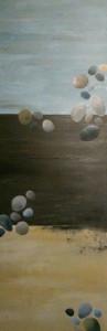 27 Stones (Acryl auf Leinwand, 40x120)