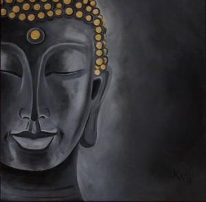 Stone Buddha (Acryl a. Leinwand, 50x50)